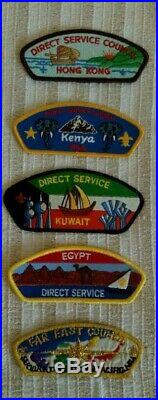 13 x BSA CSP direct service / lone scout patch lot / badges / MOST SINGLES