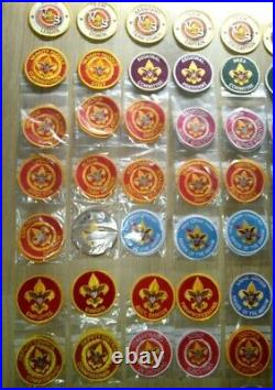 160 x BSA different position patches official and private scout badge lot