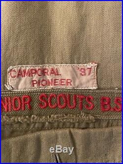 1937 Boy Scout National Jamboree Patch on Uniform Shirt With Other Patches