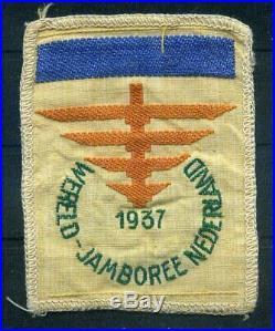 1937 Jamboree Patch, Boy scout patch, dark blue bar Camp V, RARE