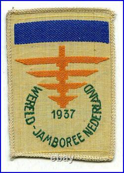 1937 Jamboree Patch, Boy scout patch, dark blue bar, R