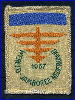 1937 Jamboree Patch Unused dark blue bar Camp V, RARE