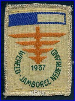 1937 Jamboree Patch Unused dark blue halfbar Camp VII, RARE