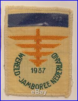 1937 World Jamboree Netherland Rare Delegate Patch Blue Bar Sub-camp