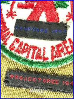 1940's era National Capital Area Sash with 29 merit badges + lots of patches