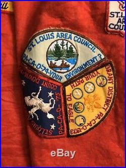 1940s-70s BSA Boy Scouts St Louis Region Vest with44 Patches Irondale Shiloh Medal