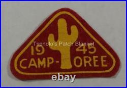 1945 Arizona Camporee Felt Patch Mint Condition FREE SHIPPING