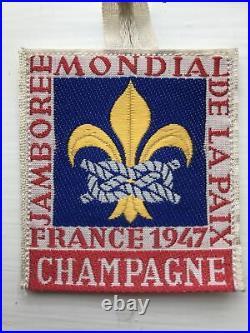 1947 World Scout Jamboree Delegate Patch Champagne Sub-camp, Perfect Condition
