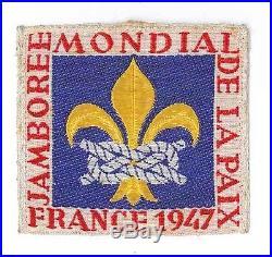 1947 World Scout Jamboree STAFF OFFICIAL PARTICIPANTS Patch