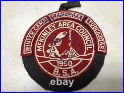 1950 & 1951 Mckinley Area Council Camporee Felt Patches WithSegments