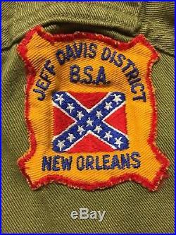 1950's Boy Scout uniform New Orleans, great patches on it! See description