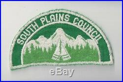 1950s 1960s South Plains Council patch white cut edge CM0405