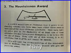 1950s Philmont Patch With Rare Mountainman Award Segment Patch HT128