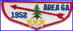 1952 Area 6-A Patch Section Conclave Fellowship North Carolina Boy Scouts SR-7B
