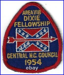 1954 Dixie Fellowship Patch OA Area 6B Host Iti Bapishe Iti 188 (sewn) PD247