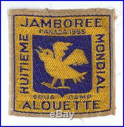 1955 World Scout Jamboree OFFICIAL ALOUETTE SUBCAMP PARTICIPANTS PATCH RARE