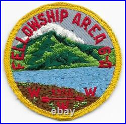 1956 Area 6-A Patch Section Conclave Fellowship North Carolina Boy Scouts SR-7B