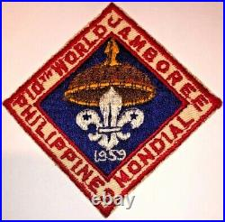 1959 World Scout Jamboree Philippines Official Participant Pocket Badge Patch