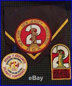 1960's Region 2 Boy Scouts Explorer Conference Patch Neckerchief