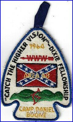 1964 Dixie Fellowship Patch OA Area 6B Host Tsali 134 Camp Daniel Boone PD256