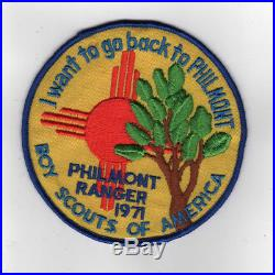 1971 Philmont Ranger Jacket Patch Issued 1 Per Ranger Very Rare! FL211