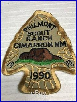 1990 PHILMONT SCOUT RANCH JACKET PATCH ARROWHEAD PB NM Boy Scouts NEW MINT RARE