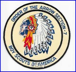 1990s Sr-7 Section Jacket Patch North Carolina Boy Scouts BSA Se-7 Sr-7B