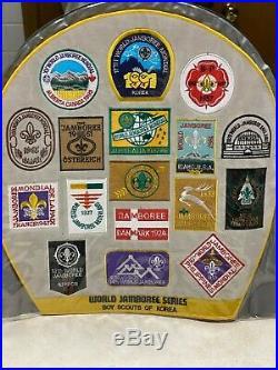 1991 World Jamboree Series Massive Jacket Patch 14 1/4 x 14 1/2