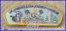 1998 MORRIS-SUSSEX AREA COUNCIL Boy Scout Philmont Shoulder Strip PATCH CSP NJ