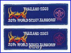 2003 World Scout Jamboree Official Participants Patch SET (2 Varieties) RARE