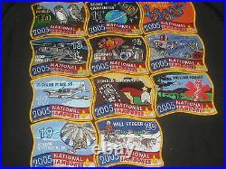 2005 National Jamboree Subcamp Patch Set, lot of 20 eb13