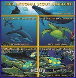 2013 BOY Scout Jamboree SOUTH FLORIDA COUNCIL 265 OA 5-PATCH WYLAND STAFF SET