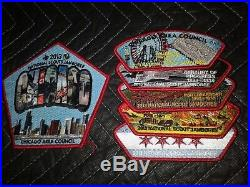 2013 Boy Scout Jamboree Chicago Area Council JSP CSP Patch Staff Set BSA Lot OA