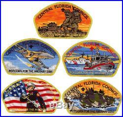 2016 Central Florida Council Military CSP Scout Patch Badge Set BSA Lot Jamboree