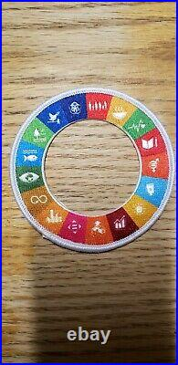 2019 24th World scouts jamboree SDGs for scouts neckerchief and and patch