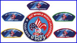 24th World Scout Jamboree 2019 Jacket Patch CSP JSP BSA USA Contingent WSJ Set
