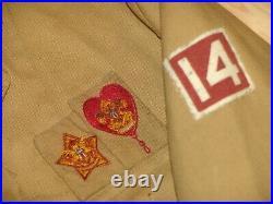27 square merit badges on jacket star & life patches square felt 14 on sleve