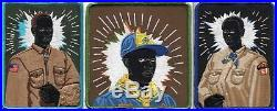 3 KERRY JAMES MARSHALL New Embroidered Patch Set MASTRY Rare Boy Scout SOLD OUT
