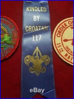 3pc Lot Vintage BSA Boy Scouts Order of the Arrow Patches FELT 1948 1954 Croatan