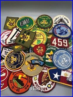 40 Vintage BSA Boy Scout Patch Lot Nice Huge Assortment United Nations Capitol
