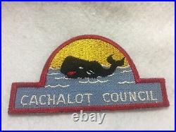 (46ae) Boy Scouts Cachalot Council black whale patch