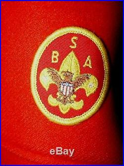 50s 60s Red Wool Official Boy Scout Jacket Mens 46 BSA Jamboree Patches Coat