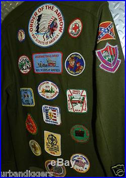 5812/ Vintage Boy Scout Jacket with over 26 Patches Antique BSA of American
