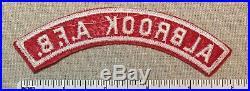 ALBROOK Air Force Base Boy Scout Red White Community Town Strip PATCH RWS A. F. B