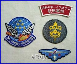 Air Scout Nippon patch lot / Japan Scout badges + Blue Impulse patch