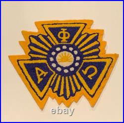 Alpha Phi Omega A Chenille Patch
