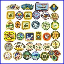 Amazing Mixed Lot of 36 Vintage 80s Boy Scout Patches BSA Boy Scouts of America