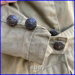 Antique 1900s Girl Scout Uniform Dress Top & Skirt Patches Buffons Boy Scout Vtg