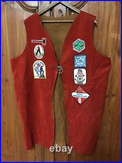 Antique Vintage Boy Scout Jacket with over 26 Patches 60's Antique BSA of American