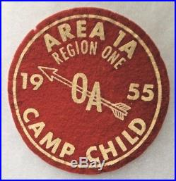 Area 1A Region One 1955 Conclave at Camp Child. Felt patch